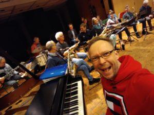 Jazz Coast Orchestra bei einer Probe